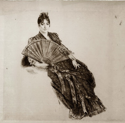 Marie Bracquemond - La Dame a l'Eventail