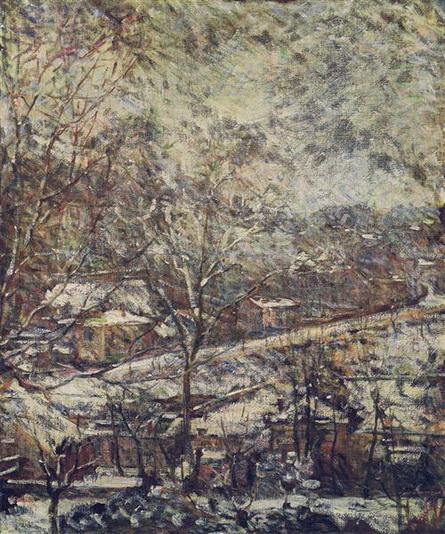 Marie Bracquemond - landscape in wintertime