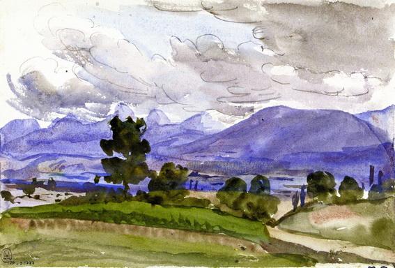 Marie Bracquemond - Landscape Showing the Environs of Divonne