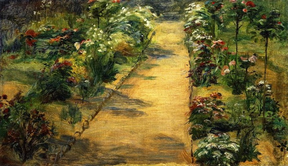 Marie Bracquemond - Landscape. Garden Path