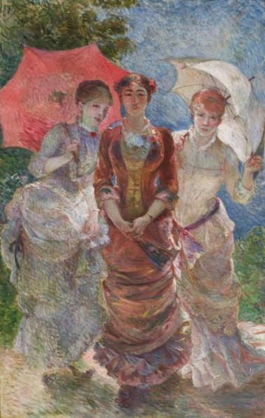 Marie Bracquemond - Three Women with Parasols