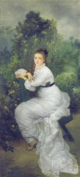 Marie Bracquemond - woman in the garden