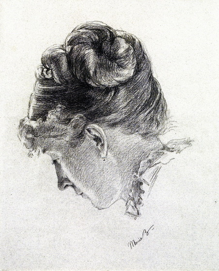 Marie Bracquemond - Woman's Head from the Right.