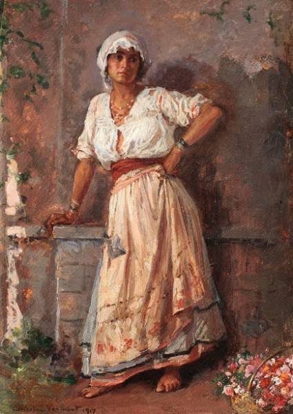 Nicolae Vermont - Flower girl