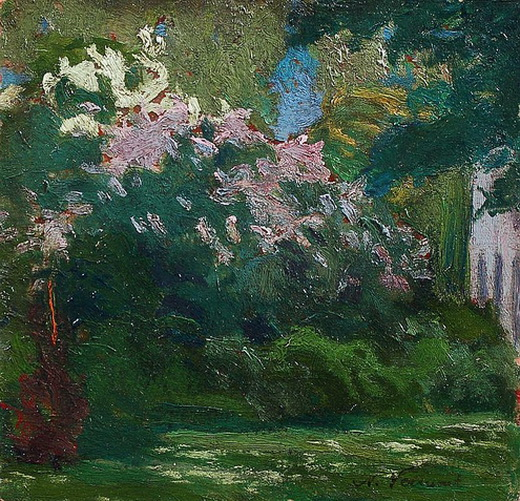 Nicolae Vermont - Gartenszene