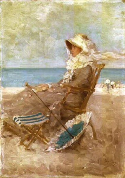 Nicolae Grigorescu - Woman on the Seashore