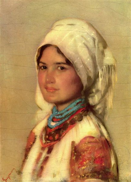Nicolae Grigorescu - Peasant Woman from Muscel