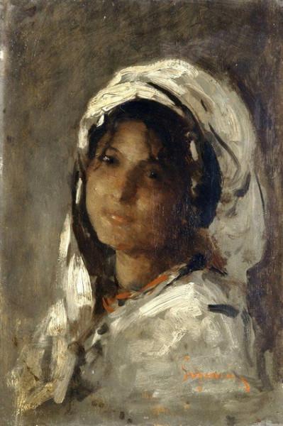 Nicolae Grigorescu - Portrait of a Girl