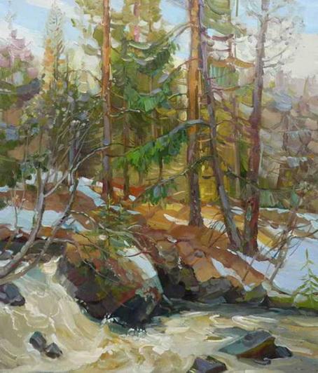Корзняков - Апрель. На таёжной речке