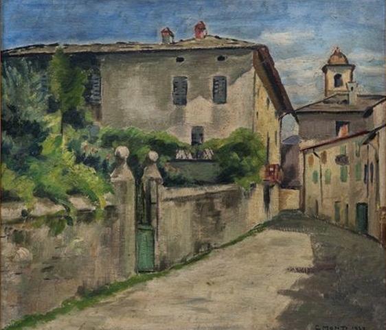 Cesare Monti - Ingresso di paese