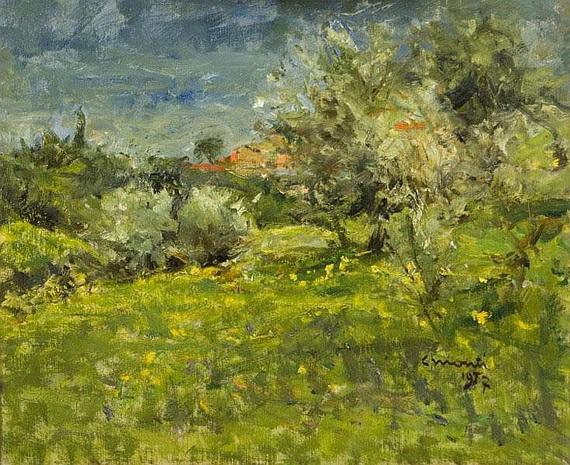 Cesare Monti - Paesaggio Firma