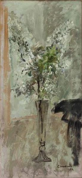 Cesare Monti - Blumenstillleben in Vase