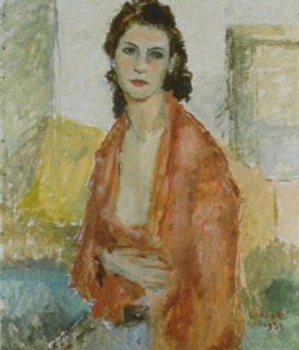 Cesare Monti - Donna in interno