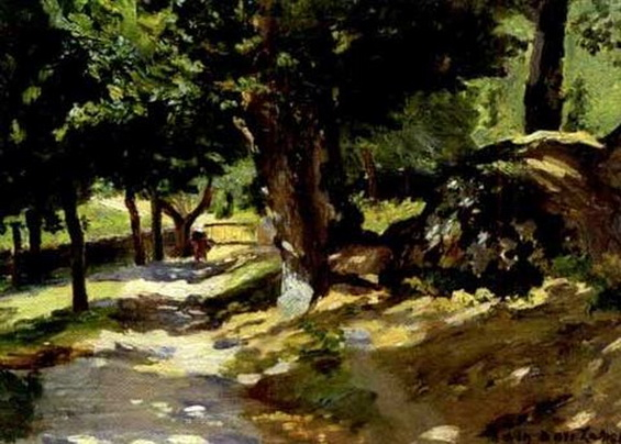 Maurice Galbraith Cullen - A walk through a sunlit woods