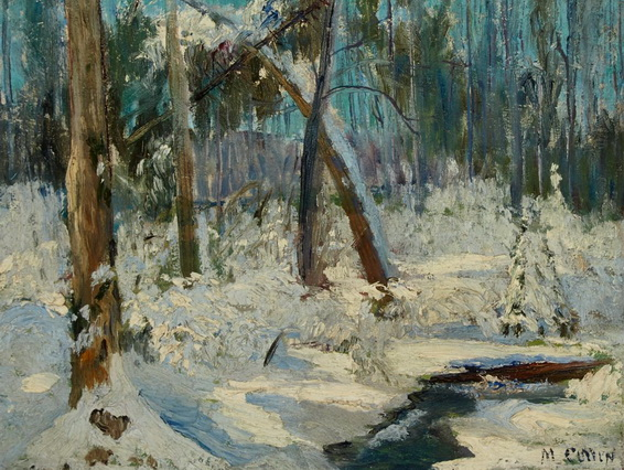 Maurice Galbraith Cullen - WINTER WOODS