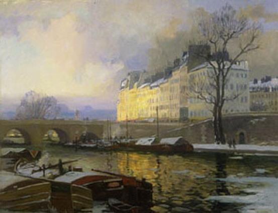 Maurice Galbraith Cullen - Paris, Winter on the Seine