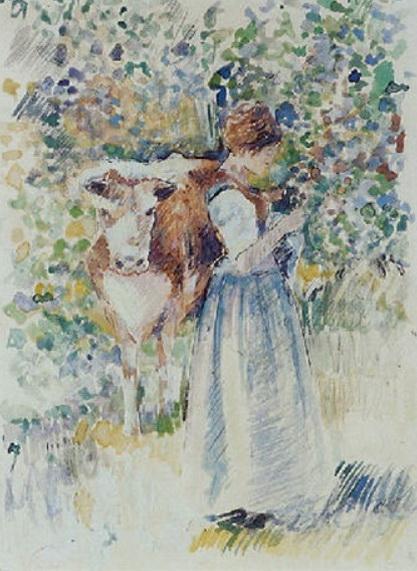 Robert Vonnoh  - La gardeuse de vaches