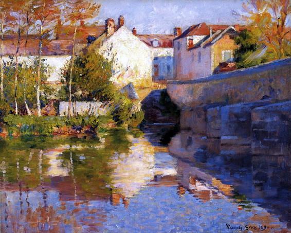 Robert Vonnoh  - Beside the River