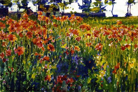 Robert Vonnoh  - Poppies in France