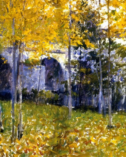 Robert Vonnoh  - The Bridge at Grez