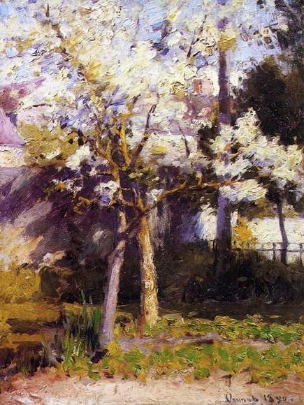 Robert Vonnoh  - Trees at Gertz