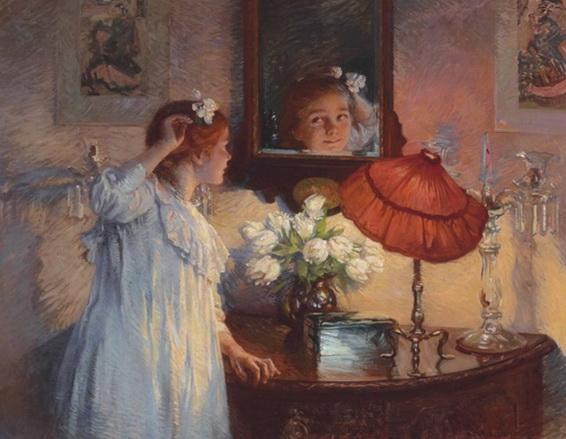 Albert Chevallier Tayler - The Mirror
