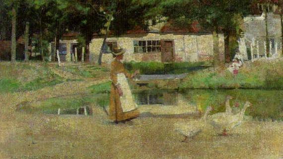 Albert Chevallier Tayler - The goose girl