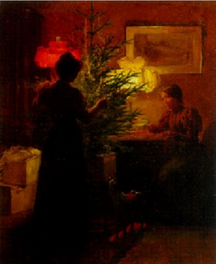 Albert Chevallier Tayler - The Christmas tree
