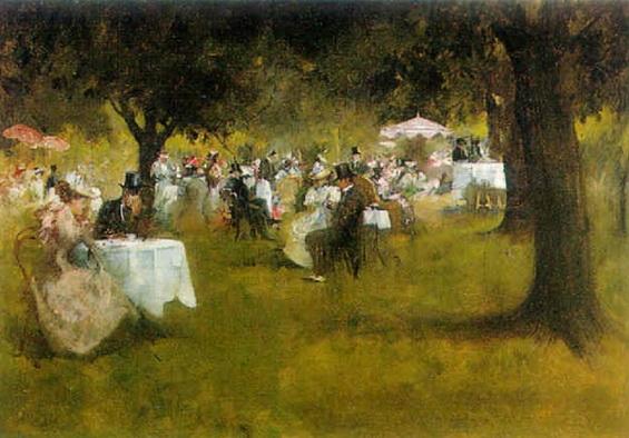 Albert Chevallier Tayler - The garden party