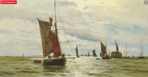 Charles William Wyllie - Bustling activity on the Thames