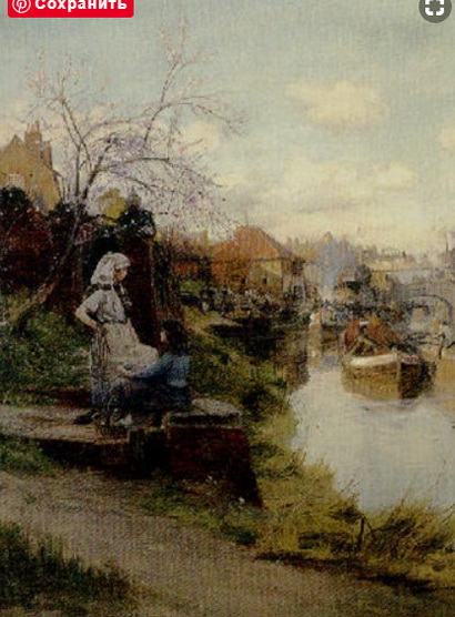 Charles William Wyllie - By the canal