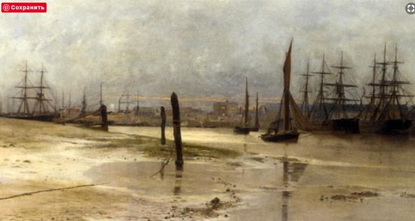 Charles William Wyllie - Shipping at dawn