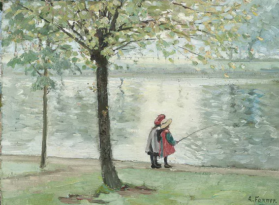 alice maud fanner - Fishing in the park