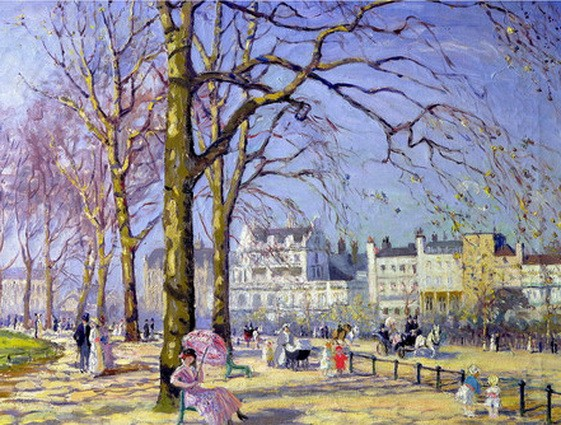 alice maud fanner - Spring in Hyde Park