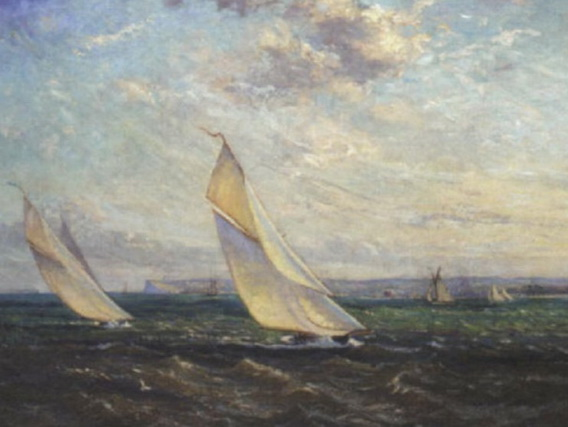 alice maud fanner - Yachts racing in a stiff breeze