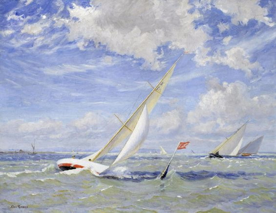 alice maud fanner - Rounding the mark