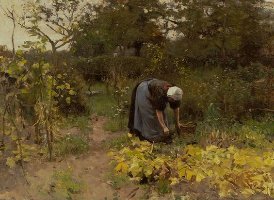 Anton Mauve -  In the Vegetable Garden