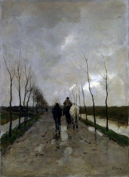 Anton Mauve - Hollandse weg