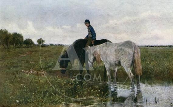 Anton Mauve - Watering Horses