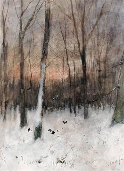 Anton Mauve - Trees at dusk