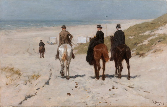 Anton Mauve - Morning Ride on the Beach