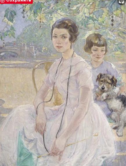 Ernest Borough Johnson - Portrait of a mother and child