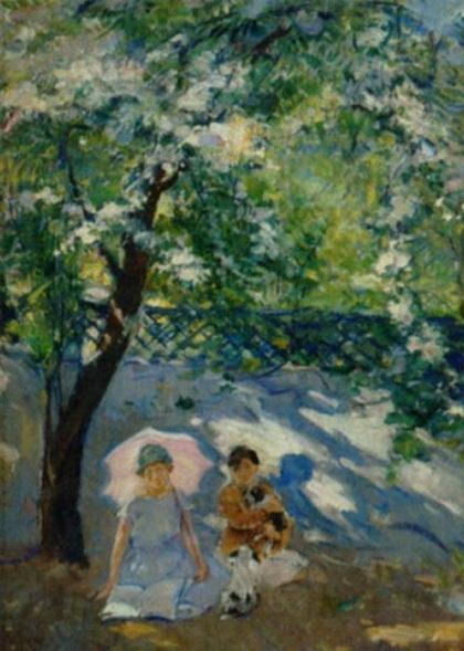 Ernest Borough Johnson - Under the parasol
