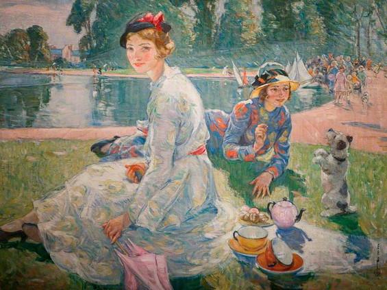 Ernest Borough Johnson - The Round Pond 1934