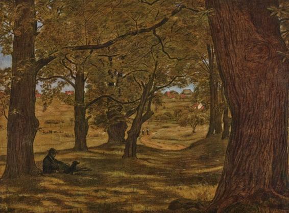 Hans Thoma - Chestnut grove in Oberursel