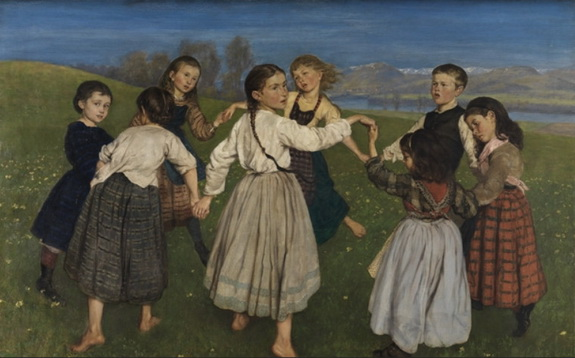 Hans Thoma - Children Dancing in a Ring