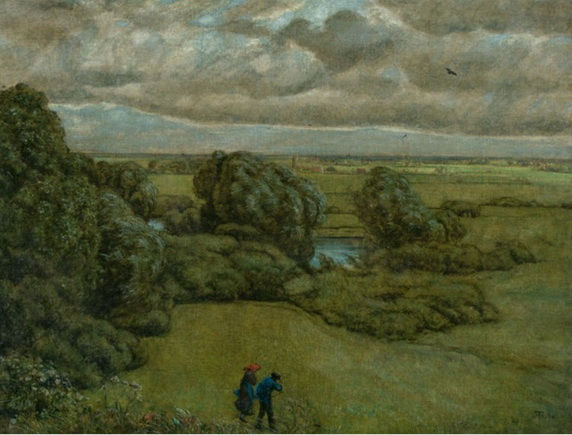 Hans Thoma - Landscape in a Storm