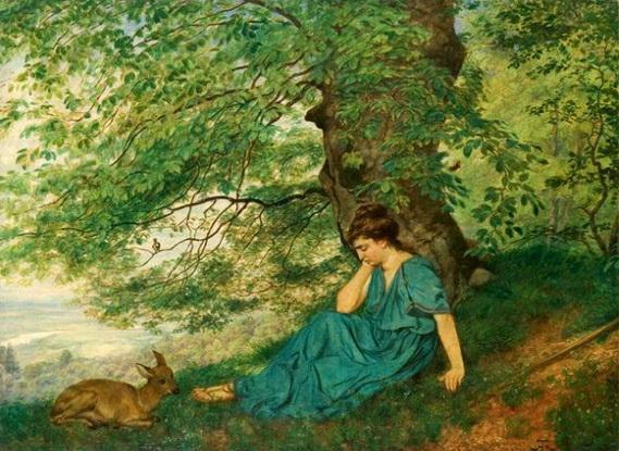 Hans Thoma - Diana under the tree