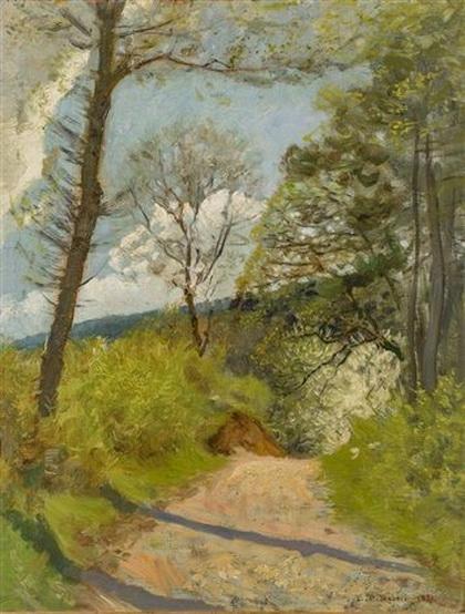leo paul robert - Chemin au printemps