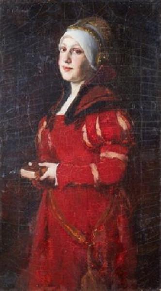 leo paul robert - Portrait de femme